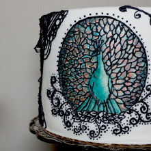 Art Nouveau Cake - Piped Peacock