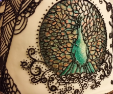 Art Nouveau Cake 3 - Piped Peacock