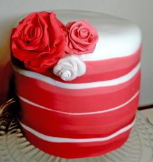 BaconCake - Stripe Cake Close Up