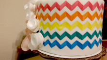 Pattern Painted Cake