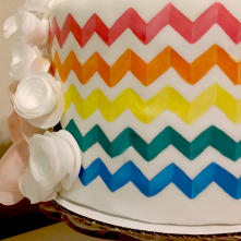 Pattern Painted Cake