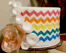 Pattern Painted Cake 2