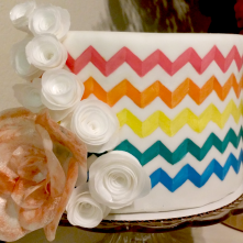 Pattern Painted Cake 2
