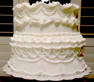 Wedding Cake Project - Overpiping