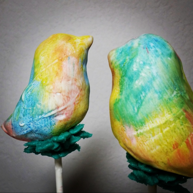 Watercolor Bird Pops